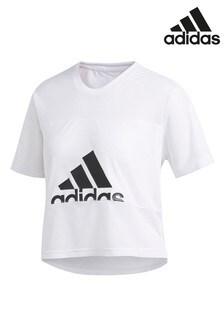 Белая сетчатая футболка adidas Badge Of Sport