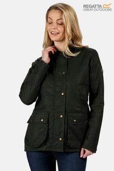 Regatta Green Lady Country Wax Jacket