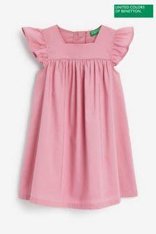 Benetton Kleid mit Carré-Ausschnitt