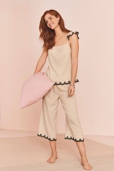 Pijamale cu maiou texturate