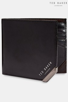 Ted Baker Black Korning Metal Corner Coin Wallet