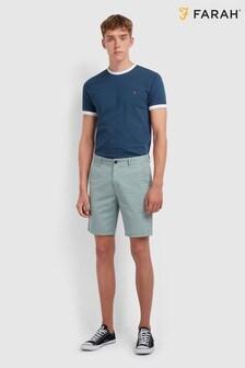Farah Hawk Stückgefärbte Chino-Shorts
