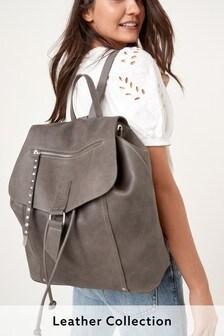 Кожаный рюкзак с заклепками