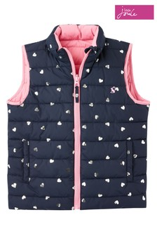 Joules Blue Flip It Reversible Gilet