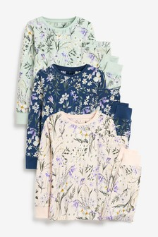 3 Pack Floral Snuggle Pyjamas (9mths-16yrs)
