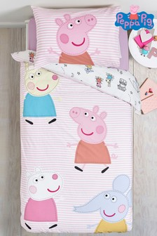 Peppa Pig™ & Friends Reversible Duvet Cover and Pillowcase Set