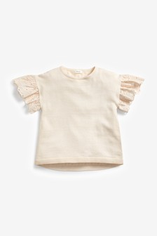 Broderie Sleeve Top (3-16yrs)