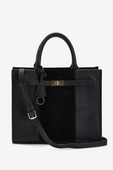 Leather Lock Established Tote Bag