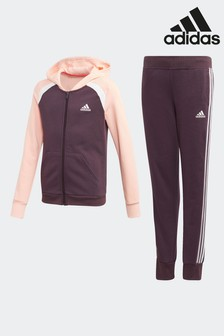adidas Purple Cotton Blend Tracksuit