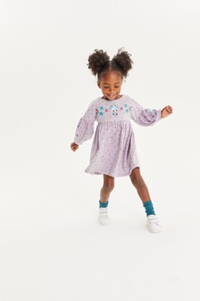 Embroidered Puff Sleeve Dress (3mths-7yrs)