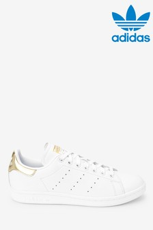 adidas Originals White/Gold Stan Smith Trainers