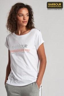 חולצת טי עם לוגו מטאלי של Barbour® International דגם Apex