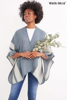Modrá tkaná pelerína White Stuff Giorgia