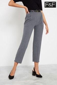 F&F Grey Melange Trousers