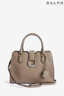 Ralph Lauren Taupe Leather Kenton Grab Bag