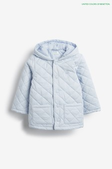Benetton Blue Quilted Coat