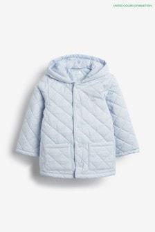 Синее стеганое пальто Benetton