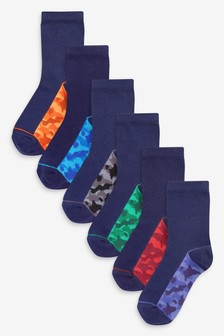 7 Pack Cotton Rich Camo Socks (Older)
