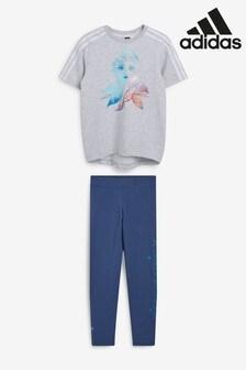 adidas Disney™ Frozen Set aus Rundhals-Top und Leggings für jüngere Kinder, Grau