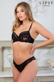 Lipsy Lace Non Padded Wired Balcony Bra (765384)   $42