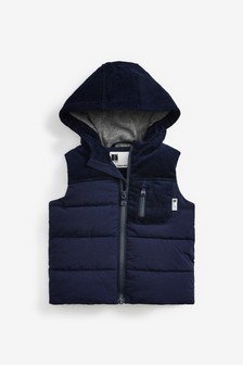 Hooded Cord Gilet (3mths-7yrs)