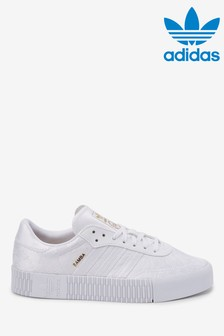 adidas Orignals White Samba Rose Trainers