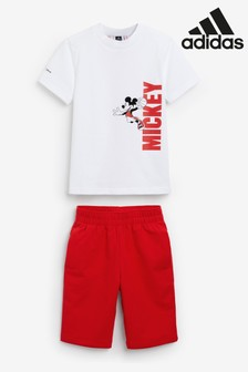 adidas Little Kids Mickey Mouse T-Shirt And Shorts Set