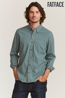 FatFace Green Slim Hove Gingham Shirt