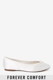 Bridal Satin Ballerina Shoes