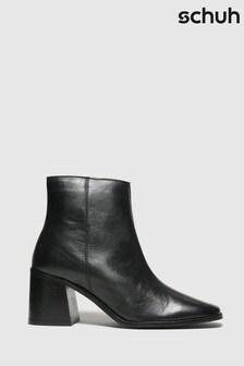 Черные кожаные ботинки с квадратным носом Schuh Beatrice