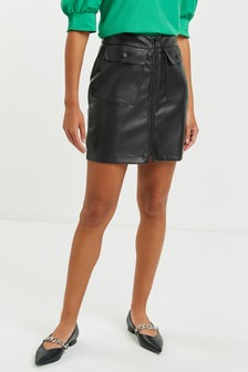 Faux Leather PU Mini Skirt