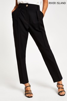 River Island Petite Black Entry Price Peg Trousers