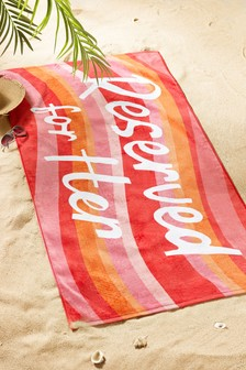 """Семейное пляжное полотенце с надписью """"Reserved"""""""