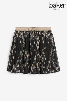Baker by Ted Baker Girls Floral Pleated Skirt