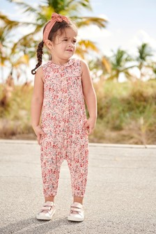 Ditsy Collar Jumpsuit (3mths-7yrs)