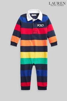 Ralph Lauren Multicoloured Stripe Polo All-In-One