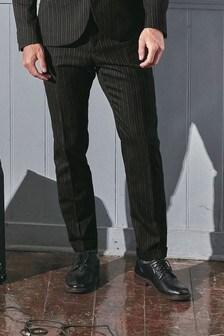 חליפה משובצת בגזרה צרה: מכנסיים