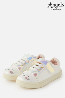 Angels By Accessorize White Cat Trainers
