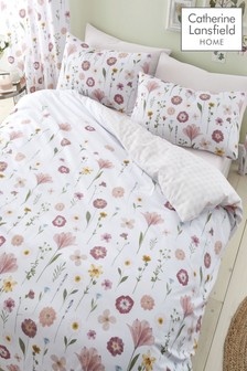 Catherine Lansfield Blush Wildflowers Duvet Cover and Pillowcase Set