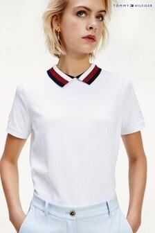 Tommy Hilfiger Abby Legeres Poloshirt, Weiß