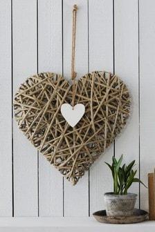Wicker Heart Wall Hanging