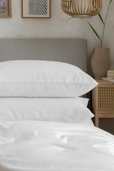 2 Pack Brushed 100% Cotton Pillowcases