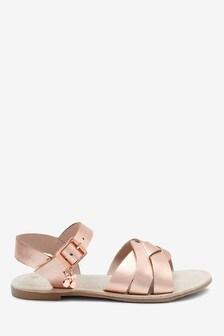 Sandales en cuir tissées (Garçon)