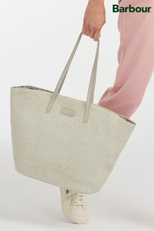 Barbour® Two Tone Braided Straw Christie Beach Bag