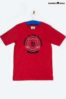 חולצת טי שלRaging Bull בצבע אדום עם כיתוב Rebel