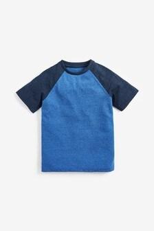 Raglánové textúrované tričko s krátkymi rukávmi (3 – 16 rok.)