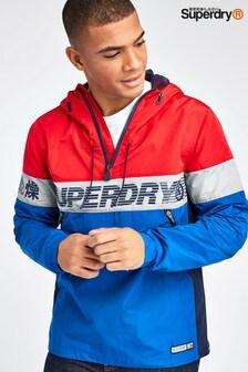 Superdry Blue Ryley Overhead Jacket