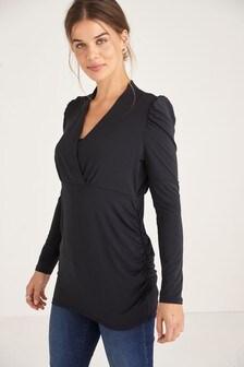 Трикотажная блузка для беременных и кормящих