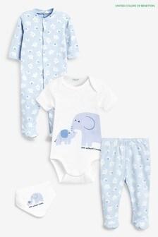 Benetton Baby Set mit Charakter-Motiv, Blau
