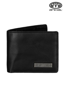 Animal Black Jeremie 2 Leaf Wallet